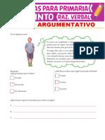 Textos Argumentativos Para Quinto Grado de Primaria