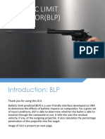 Ballistic Limit Predictor(Blp) User Manuel