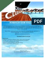 Purchasing Executive (Locals ) Job Vacancy at ROBINSON Club Maldives