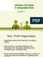 Accounting for Non-profit Organization