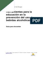 Herramientas para educación en la prevención del uso de bebidas alcohólicas