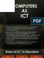 The ICT and the Computers