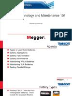 Transcat Megger Battery Testing