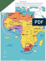 Croquis Le Continent Africain Contrastes de Developpement Et Inegale Integration Dans La Mondialisation Carte Geographie Terminale Es