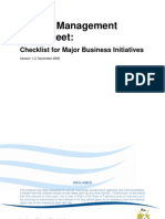 Checklist for Major Business Initiatives Fact Sheet
