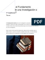 Qué Es El Fundamento Teórico de Una Investigación o Proyecto