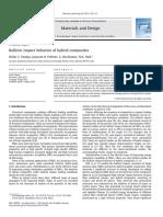 Ballistic Impact Behavior of Hybrid Composites 2013 Materials Design