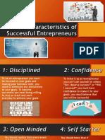 common characteristics of successful entrepreneurs
