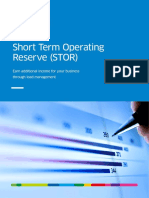 Short Term Operating Reserve Stor