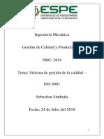 Deber ISO9001 Sebastian Simbaña 3854