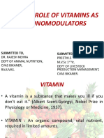 Role of Vitamin in Immunity