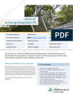 Qualification of Buidling-Integrated PV TUV Rheinland