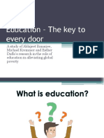 Education – the Key to Every Door