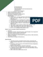 Syllabus of Public International Law