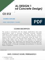 Course Outline - Reinforced Concrete