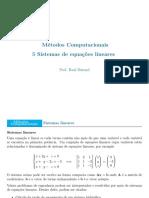 5-Sistemas lineares