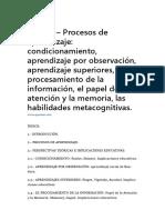 Tema 3 – Procesos de Aprendizaje Condicionamiento