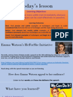 Emma Watson Speech Subtle Techniques