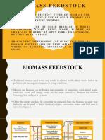 Biomass Feed stock