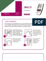 Alere G1 Glucose Meter Manual