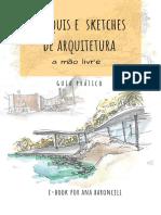 E-book Croquis e Sketches de Arquitetura a Mao Livre