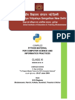 Python Content Developed in ZIET BBSR