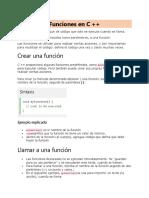 1. Funciones de C++