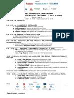Agenda Gran Cumbre Colombia Rural