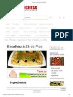Bacalhau à Zé Do Pipo
