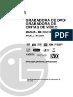 Grabadora dvd-vhs LG