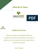 Análisis dela tarea fundación ASEMCO
