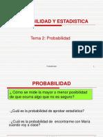 Probabilidad y Teoremas