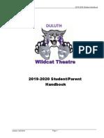 Wildcat Theatre Student_handbook