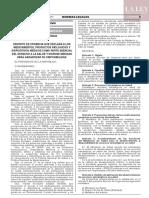 Decreto de urgencia N° 007-2019