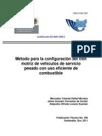 Método Para La Configuración Del Tren Motriz de Vehículos de Servicio Pesado Con Uso Eficiente de Combustible