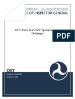DOT Top Management Challenges FY2020