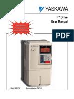 Yaskawa F7 User Manual