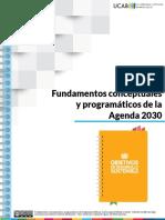 Fundamentos Conceptuales y Programáticos de La Agenda 2030
