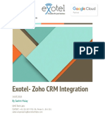 Proposal for Exotel- ZOHO CRM Integration for Styletag