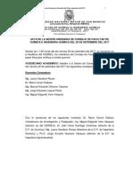 Acta de Sesion 29 de Setiembre Ordinvaria
