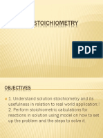 Solution Stochiometry