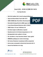 Iscc Eu Biodiesel - b100 Ucome en 14214