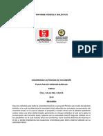 Informe de Fisica PENDULO