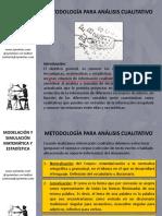 Metodologia Para Analisis Cualitativo