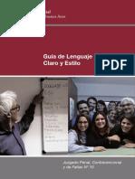 Guía de Lenguaje Claro y Estilo - Poder Judical - Ciudad de Buenos aires