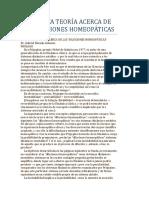 Una Nueva Teoría Acerca de Las Diluciones Homeopáticas