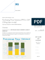 Purchasing Price Variance (PPV) in SAP