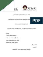Línea Del Tiempo de La Profesión y Las Relaciones Internacionales