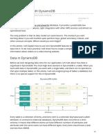 Data Modeling With DynamoDB