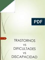 Trastornos vs Discpacidad